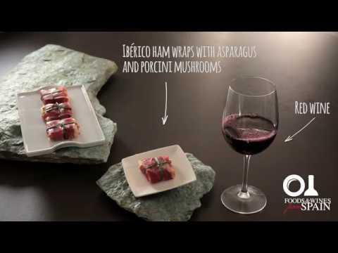 Spanish tapas recipes: Ibérico ham wraps with asparagus and mushrooms