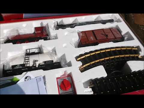 Modelling Railroad Toy Train Scenery -Unboxing my ebay Wangerooge g scale LGB starter set And Rail Laying Design
