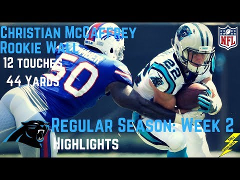 Christian McCaffrey Week 2 Regular Season Highlights Rookie Wall | 9/17/2017