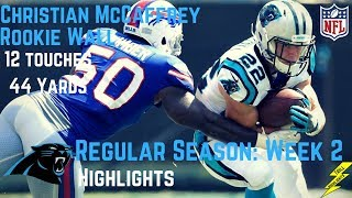 Christian McCaffrey Week 2 Regular Season Highlights Rookie Wall | 9/17/2017