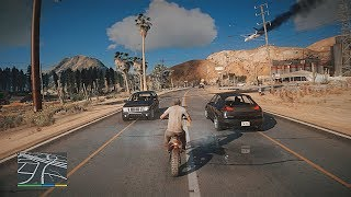 GTA 5 - 8k NEW 2019 Remastered Graphics - Caida Libre Mission! 2x RTX 2080 Ti Gaming PC!