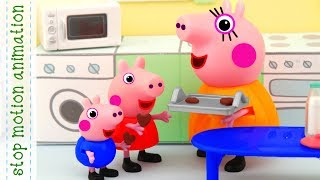 Heart Shaped Cookies  Peppa pig toys stop motion animation english episodes 2018