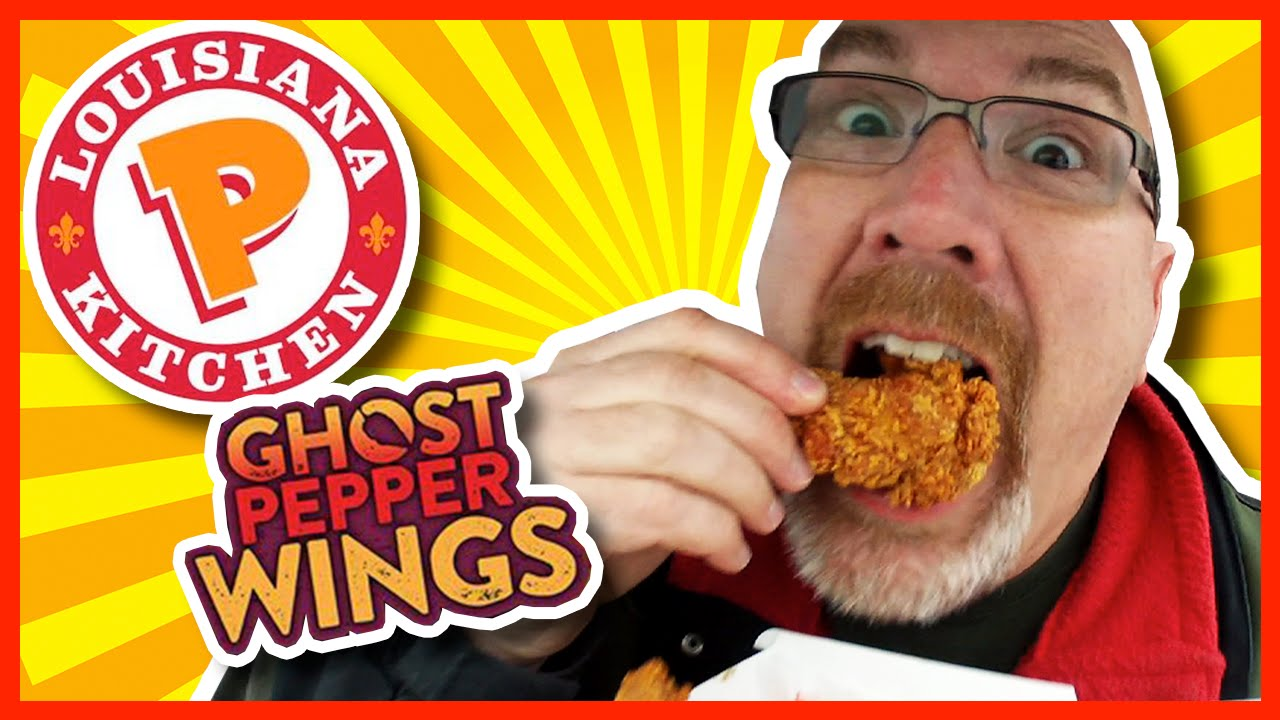 Ghost Pepper Wings from Popeye's Review also Onion Rings and Biscuit