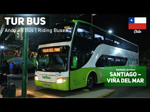 Ando En Bus Mini | Viaje Tur Bus, Santiago - Viña Del Mar + Bus Modasa Zeus Mercedes Benz DRZH68