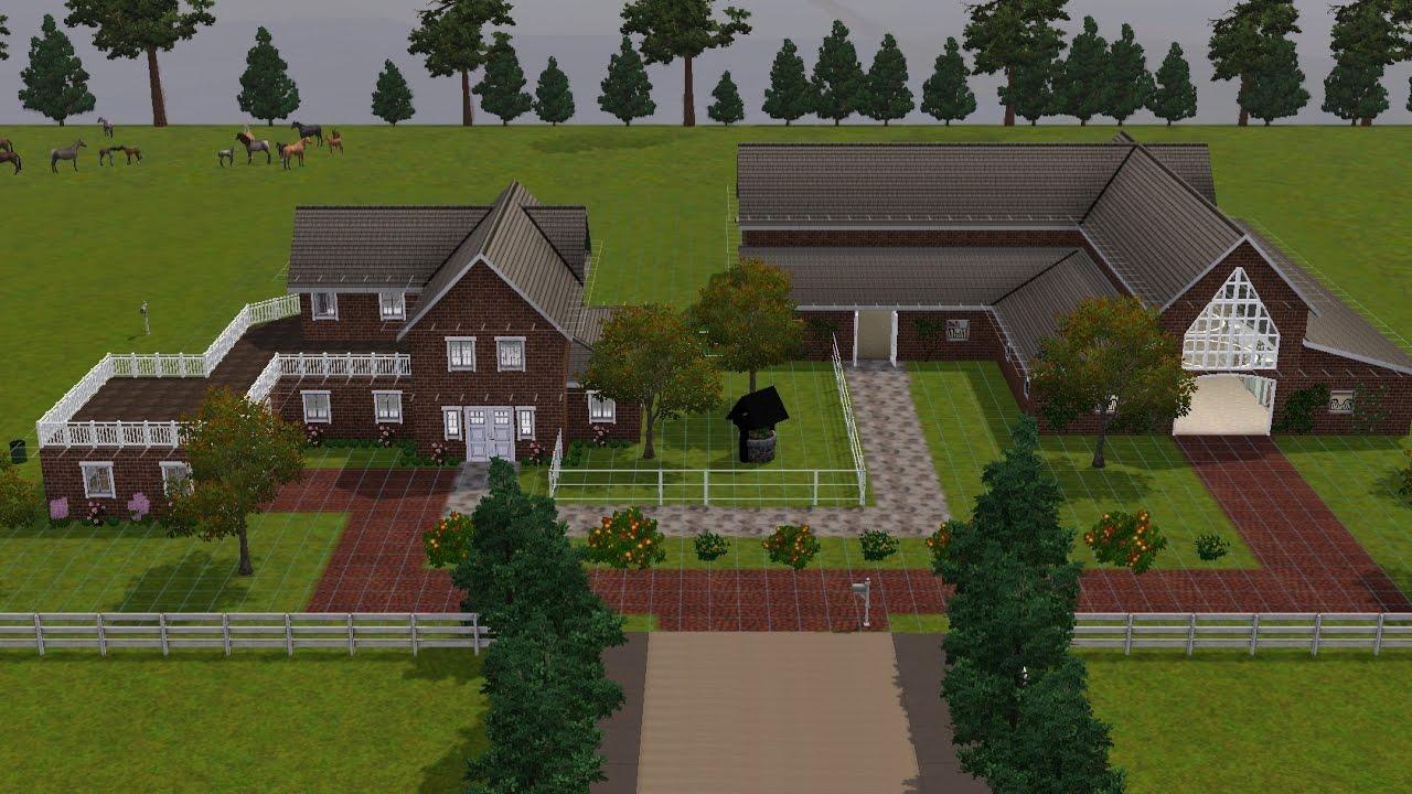 Sims3 bauen wohnhaus mit stall part 1 youtube for Wohnhaus bauen