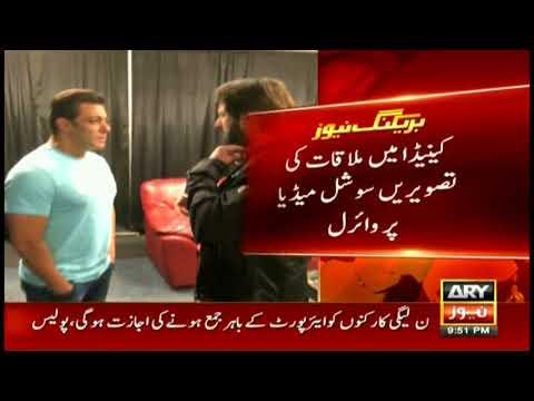 Boom Boom Afridi meets Bollywood superstar Salman Khan in Canada