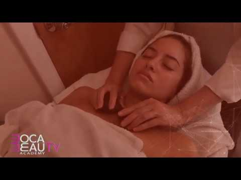 Hot Stone Massage filmed for a beauty school