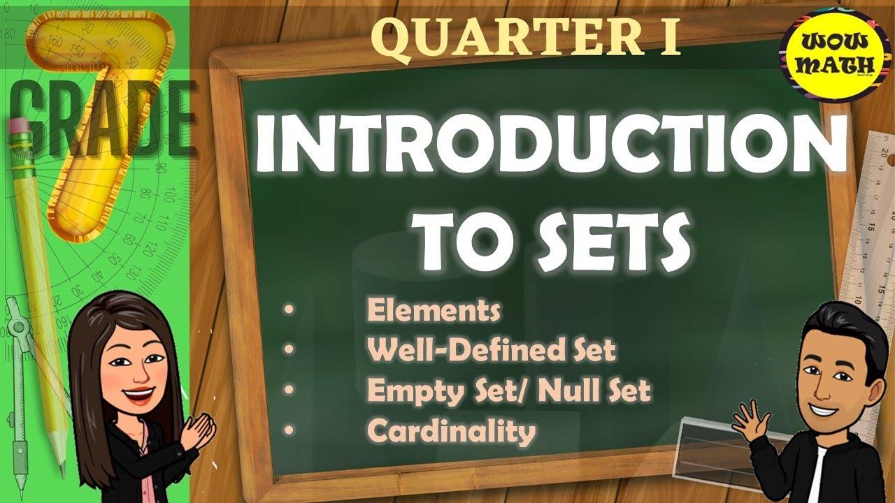 Download INTRODUCTION TO SETS || GRADE 7 MATHEMATICS Q1