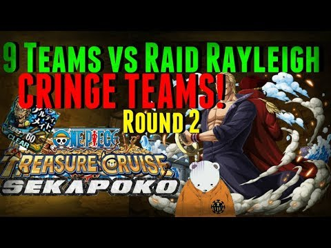 9 Cringe Teams for Raid Rayleigh | One Piece Treasure Cruise