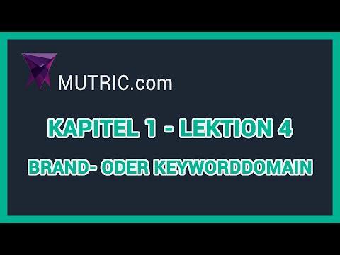 💎 ► Brand oder Keyword Domain [Nischenseiten SEO] | Mutric.com »