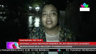 Multinoticias | Lluvias provocan desborde del Río Masachapa causando inundaciones