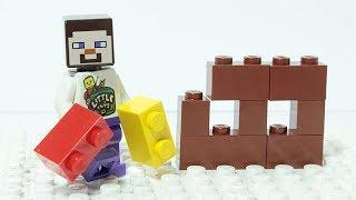 Lego Minecraft Brick Building House Animation