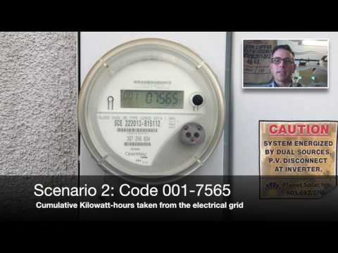 How to read a smart meter with solar panels