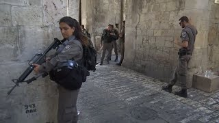 Three gunmen fire on police in Jerusalem