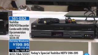 Toshiba DVD/VCR Recorder Combo with 1080p Upconversion