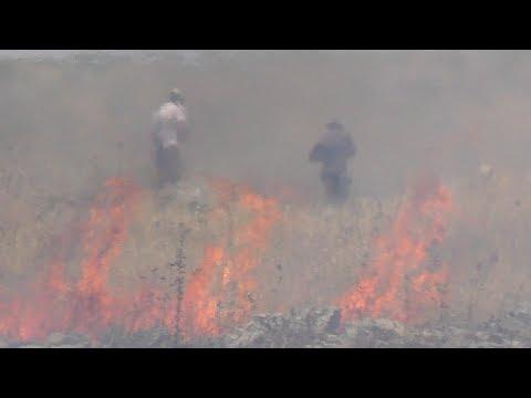B'Tselem: Settlers set fire to Palestinians' fields, threw rocks at them