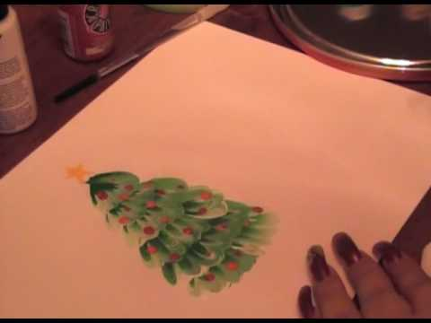 Christmas tree acrylic painting youtube Christmas card scenes to paint