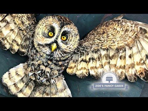 Owl cake tutuorial Halloween cake ideas