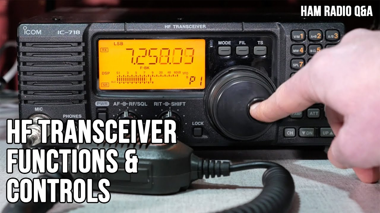 Icom IC-718 HF Transceiver Controls and Functions - Ham Radio Q&A