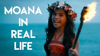 "Moana in Real Life - ""How Far I"