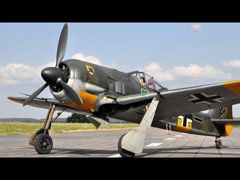 Maiden Flight Of The Best 1/4 Scale Focke Wulf FW-190 A5 On Planet