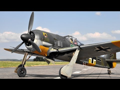 Maiden Flight Of The Best 1/4 Scale Focke Wulf FW-190 A5 On Planet