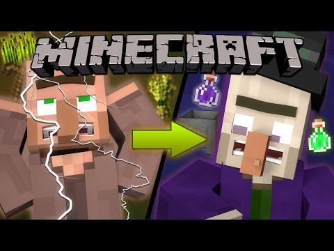 Thumbnail: Why Lightning Turns Villagers into Witches - Minecraft
