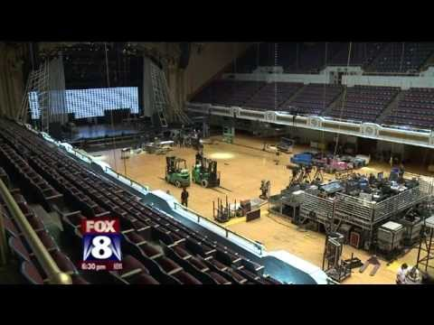 Inside Look at Public Hall as Rock Hall Prepares for 2015 Induction Cermony