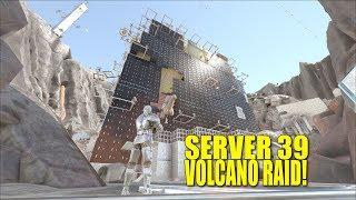 SERVER 39 VOLCANO RAID! (Official Pvp Mercenaries)  - Ark:Survival Evolved -Ep.1