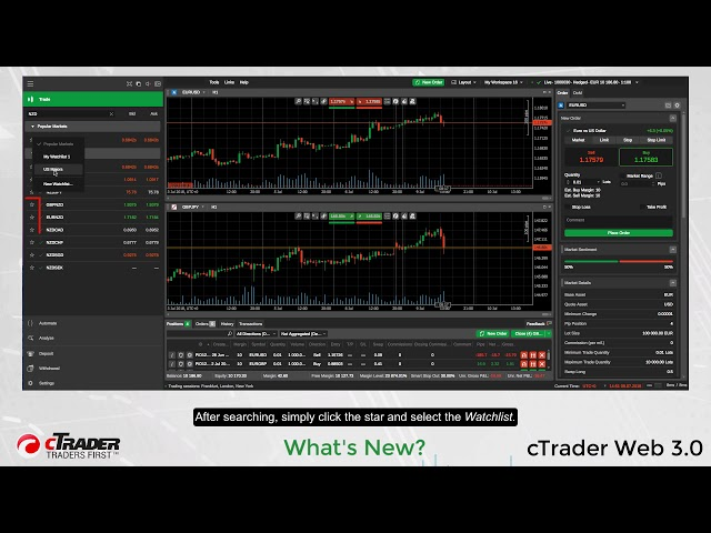 cTrader Web 3.0 - What's New
