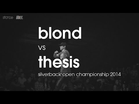 Blond vs Thesis // [1v1 rd 8] Silverback Open // UDEFtour.org 2014