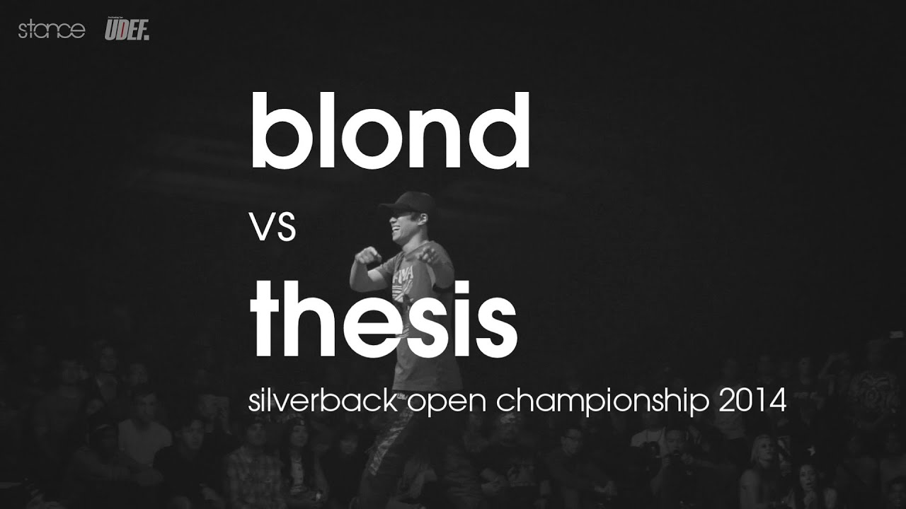 Blond vs Thesis // [1v1 rd 8] Silverback Open // UDEFtour.org 2014