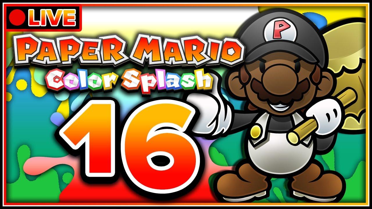 Paper Mario Color Splash Livestream 100 Part 16 Finale Vs