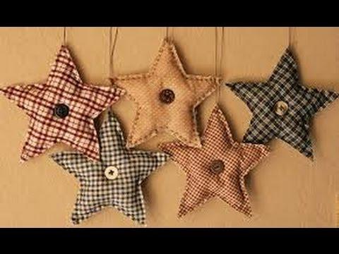 How To Make A Primitive Cloth Fabric Or Felt Christmas Ornament
