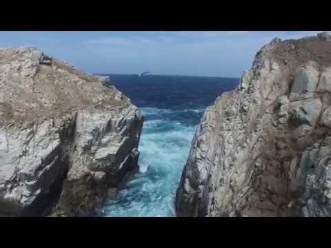 Aerial views of Isla Palomino Lima, Peru | ANAYAlated Aerials