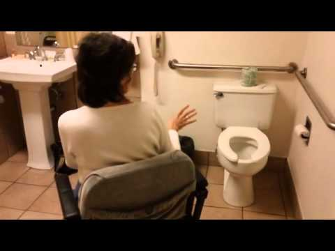 Handicapped Accessible Room Evaluation--Days Inn - YouTube
