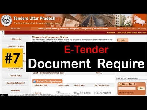 E Tender !! #07  Document Required for Upload to tender | E tender Process ! Hindi