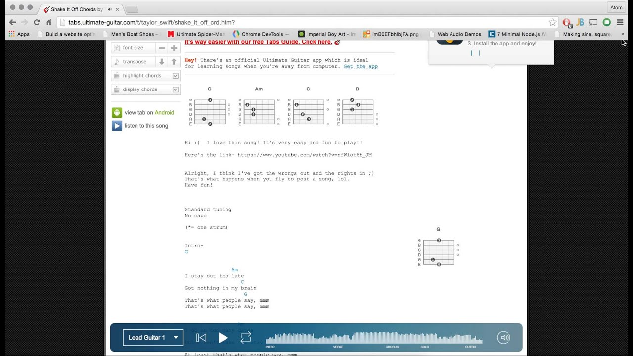 Ultimate Guitar Chord Chart Demirediffusion
