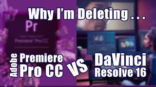 Which To Delete DaVinci Resolve 16 vs Premiere Pro CC 2019