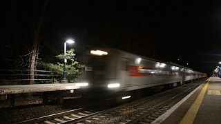 Metro North Deadhead Destroys New Hamburg Station⁴ᴷ (Lots of RS2M Horn)