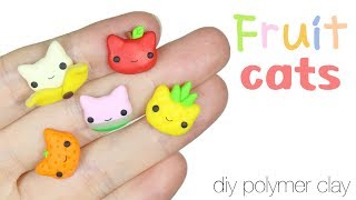 How to DIY Cute Fruit Cats Polymer Clay Tutorial REQUESTorial