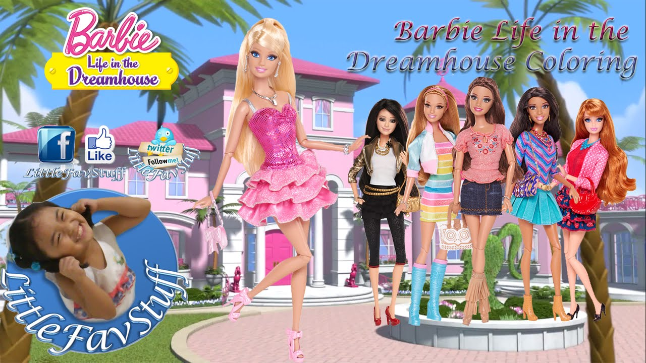 barbie life in the dreamhouse coloring