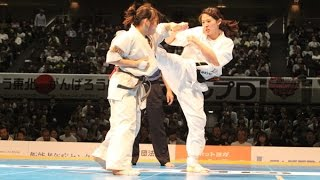 The 46th ALL JAPAN KARATE TOURNAMENT Women final Yui Kikukawa vs Sa...