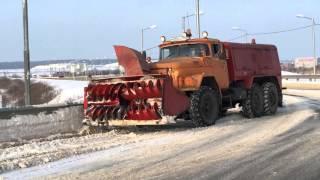 видео снегоуборочная машина