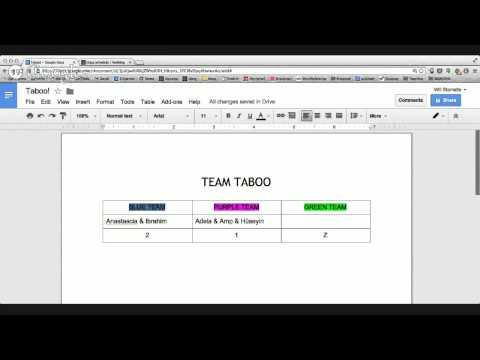 Team Taboo!