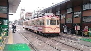 広島電鉄3000形3007号 広電本社前到着