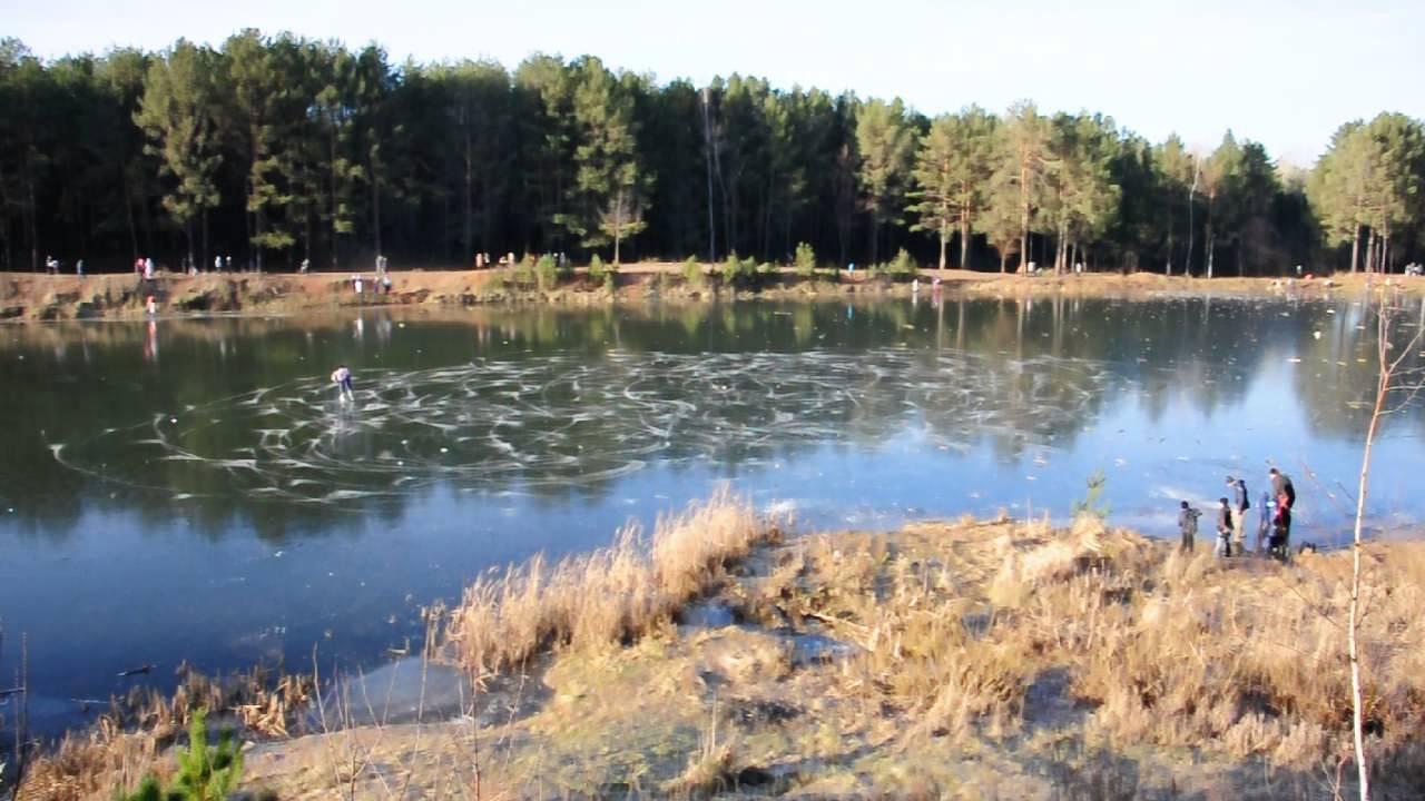 г.Набережные Челны - 24 ноября 2013 - Лесное озеро - YouTube