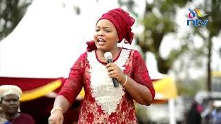 Trans Nzoia woman rep's hilarious speech at Inua Mama rally in Tharaka Nithi