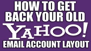 How to Get Back Your Old Yahoo Email Account - Yahoo Email Services