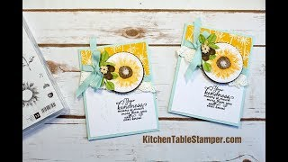 Stampin Up Painted Harvest Whole Lot of Lovely Card Making Tutorial with Kitchen Table Stamper